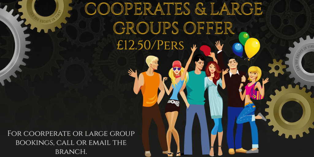 Cooperate discount in Barrow escape rooms