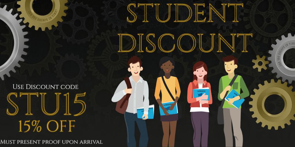 Student Discount at Barrow escape room